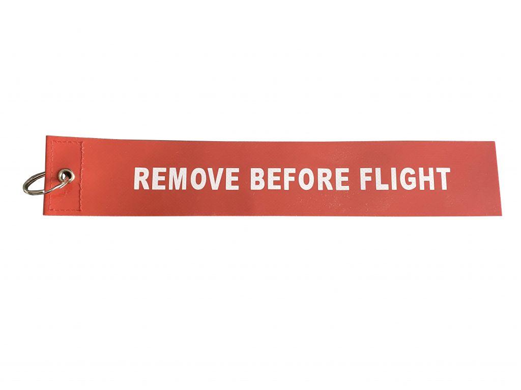 """Flamme rouge de sécurité """"REMOVE BEFORE FLIGHT"""" Réf : FR50"""
